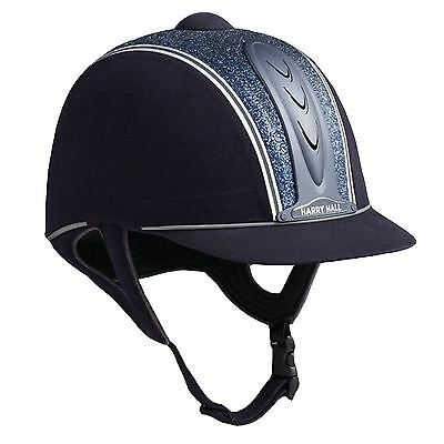 New Harry Hall Legend Cosmos Pas015: 2011 Navy Glitter Riding Hat 54 55 58 59