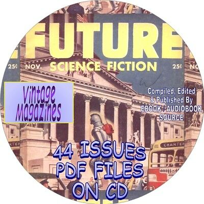 Future Science Fiction Vintage Magazines / Comic Books - 59 Issues - Pdf - Cd