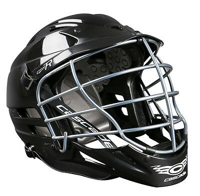 New Cascade CPX-R Lacrosse Helmet - Black with Chrome Mask
