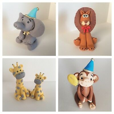 Animal cake toppers (Jungle/Zoo Theme) Height Approx 7cm. $14.95 Each.