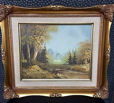 Beautiful Signed Countryside Oil Painting