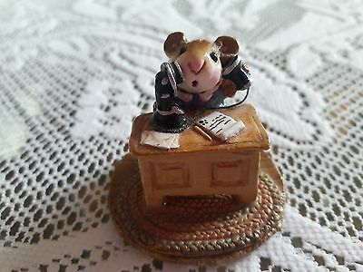 Wee Forest Folk  M-68 Office Mousey in MINT Condition with Box