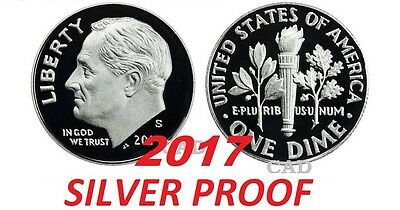 2017 S Silver Proof Roosevelt Dime Gem Deep Cameo Free Shipping