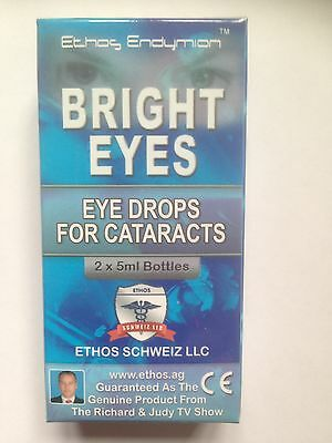 Eye Drops for Cataracts, Ethos Bright eyes, As seen on Richard and Judy show