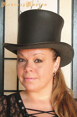 Steampunk Hat Victorian Leather Standard HIGH Top Hat