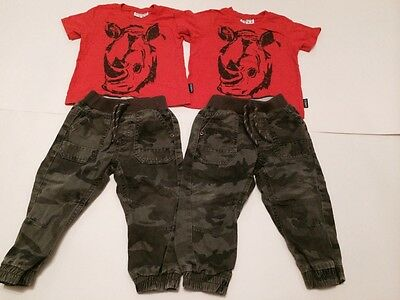 Twins Boys  Trousers And Tops Small Bundle 12-18 Months