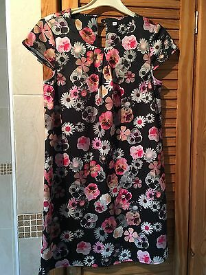 Girls M&S Floral Dress - Age 8-9