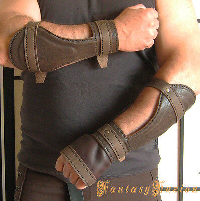 Medieval Cosplay Riddick Forearm Warrior Armor Gladiator Leather BracerS