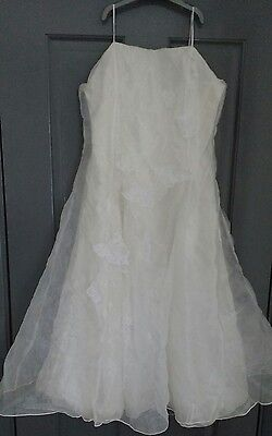 Stunning girls cream prom dress age 12/13 years vgc party wedding christening