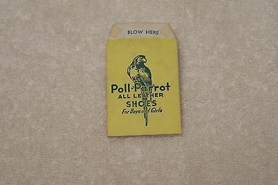 Vintage Poll Parrot Shoes Cardboard Whistle