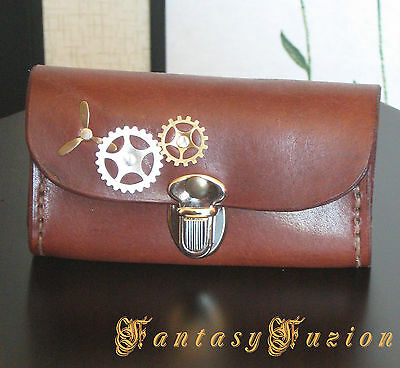 Steampunk Classic Industrial Leather Small Case Wallet