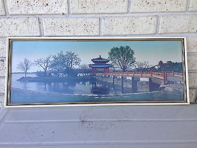Large Chinese Silk Embroidery Framed Picture 74X28.5Cm