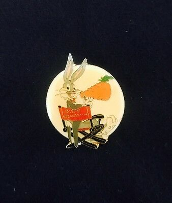 Vtg WB Warner Bros Brothers Looney Tunes Bugs Bunny Director Chair Lapel Pin