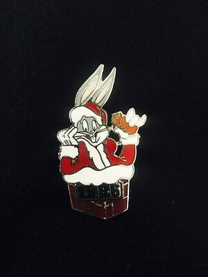 WB Warner Bros Looney Tunes Bugs Bunny In Chimney Christmas Lapel Pin