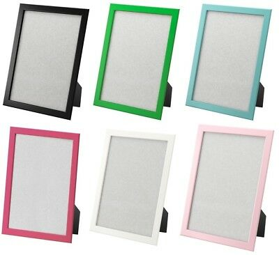Ikea Picture Frames 85x11 White Black Blue Pink Green Hangstand 1