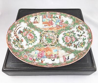 Antique 19th Century Chinese Canton Famille Rose Medallion Plate Charger Early