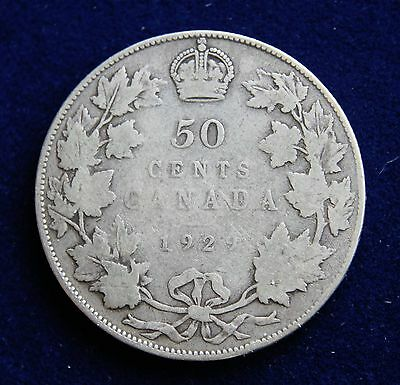 Canada 1929 George V Silver Fifty Cents