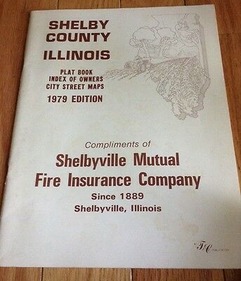 Shelby County, Illinois 1979 Plat Book Shelbyville Cowden Findlay