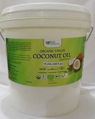 Certified Organic Virgin Coconut Oil 10L -- 30% off Special + Free Postage