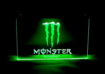 LED NEON Store SIGN • MONSTER Energy DRINK • Ships from USA !