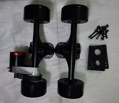 DIY electric longboard skateboard drive kit parts N5065 8044 wheels CNC mount