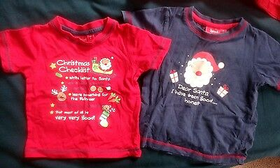2 Boys Sprout size 1 Xmas T-shirt
