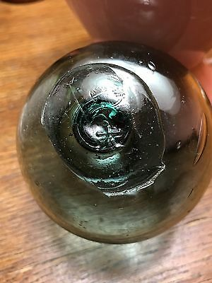 "Vintage Japanese Glass Fishing Float, 3"" Diameter , Marked with a Character!"