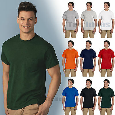 Gildan Mens DryBlend 50/50 T-Shirt with a Pocket Tee S-3XL Tee 8300-G830
