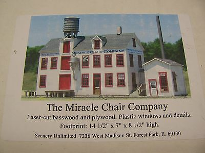 """Scenery Unlimited    """"miracle Chair Company""""    Kit#1151"""