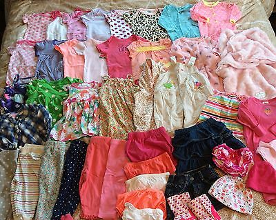 43 Piece Baby Girl Clothes Lot 3-6 Months 6 Months Spring