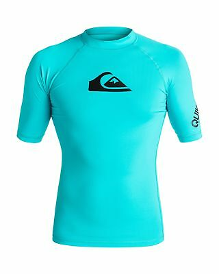 NEW QUIKSILVER™  Mens All Time Short Sleeve Rash Vest Rashie Rashvests