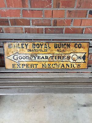 Rare 1920s GOODYEAR Tire Service SIGN Gas Station Oil Advertising Station Tires
