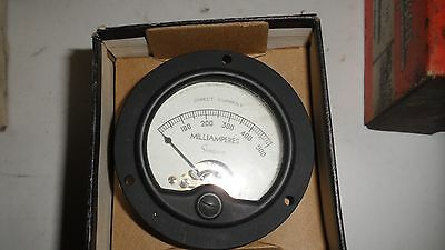 Simpson Signal Corps DC Milliamperes 0-500 mA Panel Meter Analog New