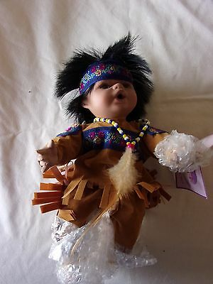 """Goldenvale Collection 1-2000 Native American Porcelain Doll """"Taci"""""""