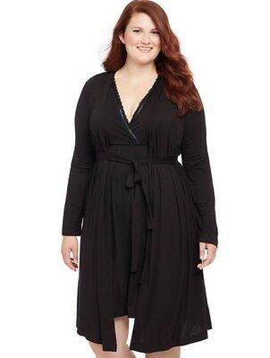 Motherhood Maternity Plus Size Black Nursing Robe And Gown NEW Nwt 1X Bump Start