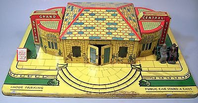 Super Metal MARX Toy Co. Grand Central Station Railroad Toy