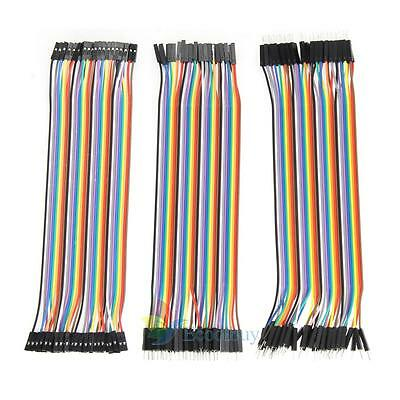 120pcs 20cm 2.54mm 1pin Jumper Wire Dupont Cable for Arduino US STOCK
