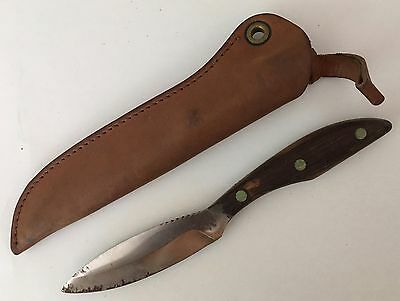 Vintage RUSSELL Fixed Blade Belt Knife  w/ Sheath  - Canada RJ 1958
