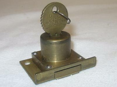 MILLS Novelty Co antique slot machine lock + key w/MATCHING NUMBERS Bell#X3893