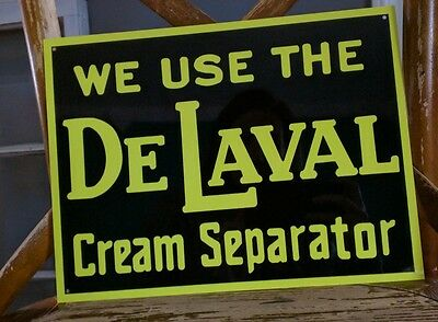 Vintage The De Laval Cream Separator Metal Sign 9X12 Advertising 50015
