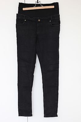 ASOS Faded Black Skinny Maternity Jeans Size 12