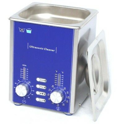 Derui Stainless  Ultrasonic Cleaner DR-DS13 Jewelry Watch 1.3L W/Degas Sweep