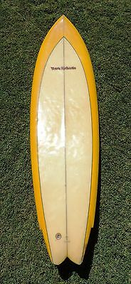 70's - 80's? Vintage Mark Richards Twin Fin Surfboard 6'5''  (Suit Collector)
