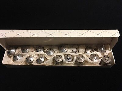 16 Party Sterling Small Salt Pepper Shakers Silver