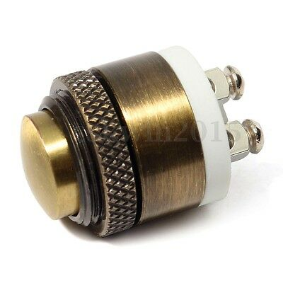 16mm Momentary Brass Metal Push Button Door Bell Doorbell Switch 1.6 x 2.7CM