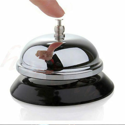 Ring Reception Hotel Desk Kitchen Call Ringer  Service Restaurant Steel Bell