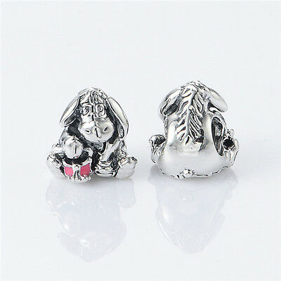 S925 Sterling Silver EURO Charm Bead Eeyore Donkey from Winnie the Pooh
