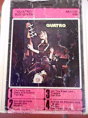 Vintage Suzie Quatro 'Quatro' 8-Track Cassette Tape Perfect Working Order