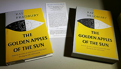 The Golden Apples of the Sun FIRST EDITION LIBRARY FEL SLIPCASE & CARD HC/DJ