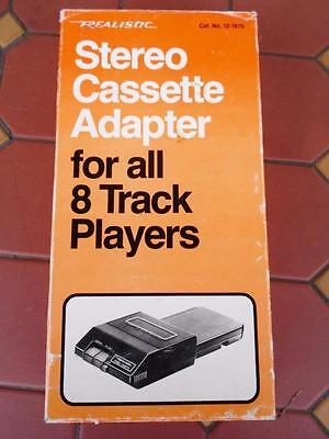 Vintage Realistic Stereo Cassette Adapter For 8-Track Players 12-1875 Manual